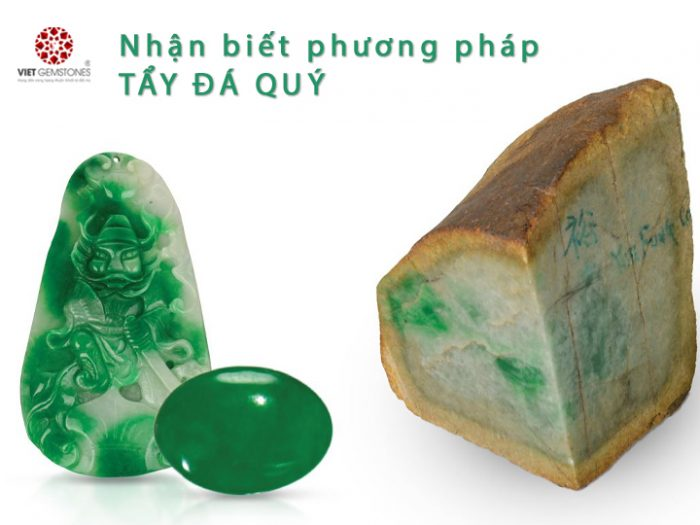 Nhận biết phương pháp tẩy đá quý