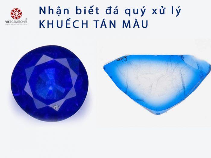 Nhận biết đá quý khuếch tán màu