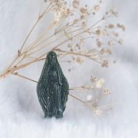 Mặt dây chuyền Đức Mẹ Maria - Chất liệu Ngọc Bích - Nephrite