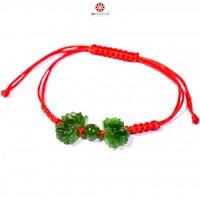 Vòng tay Mala đỏ hoa Sen Ngọc Bích
