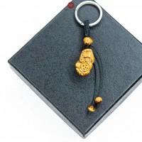 Móc khóa Tỳ Hưu đá Mắt Hổ Vàng size nhỏ
