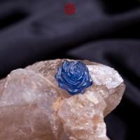 Mặt dây chuyền hoa mẫu đơn Sapphire lam ngọc